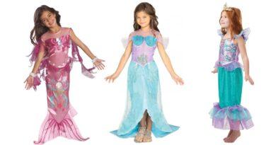 ariel kostume til børn havfrue kostume til børn havfrue børnekostume lyserød havfrue kjole til piger