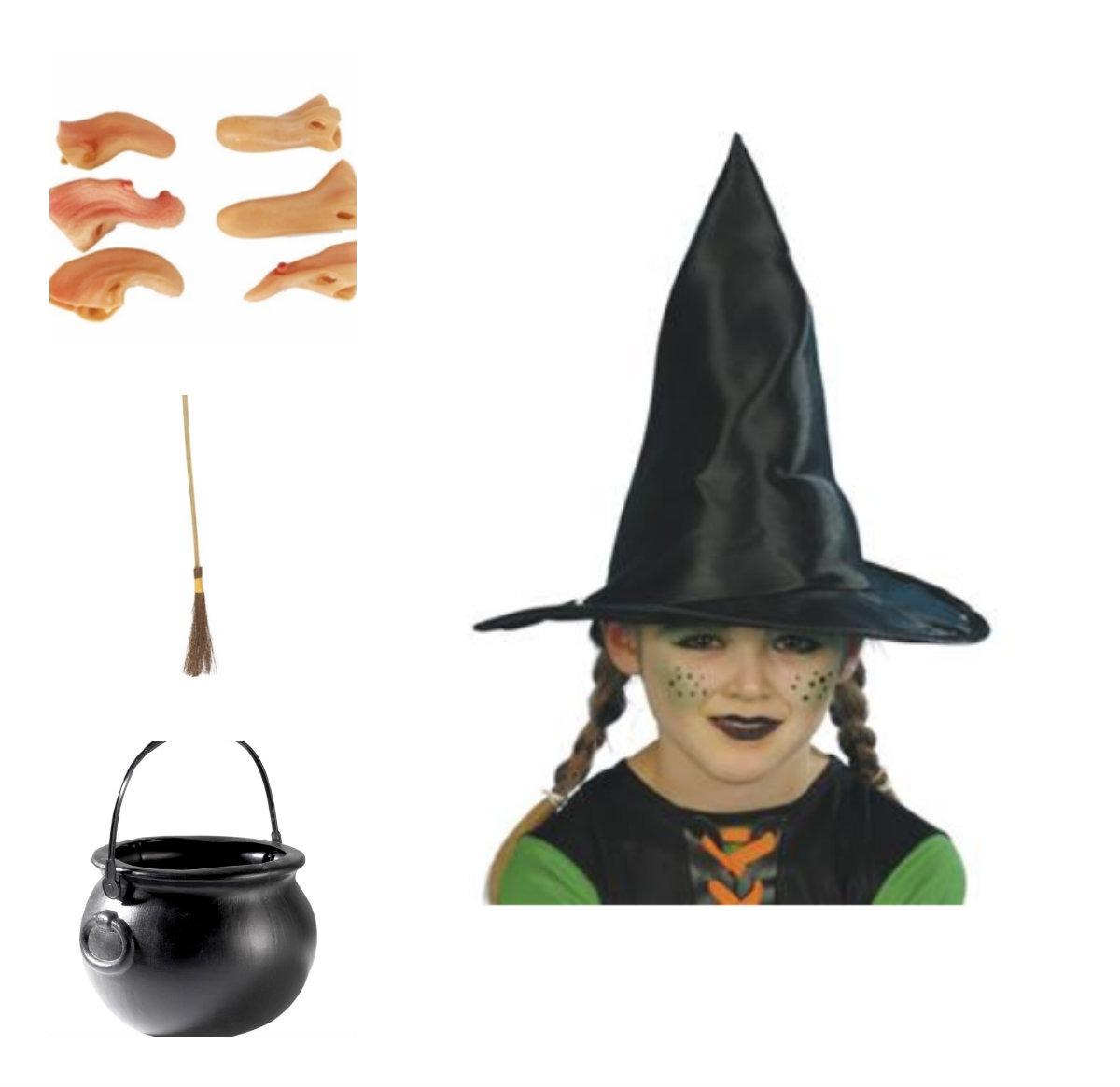 collage - Hekse kostume til børn