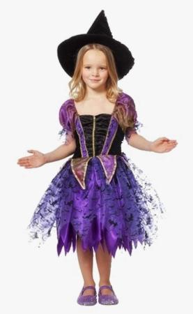 heks børnekostume 277x450 - Hekse kostume til børn
