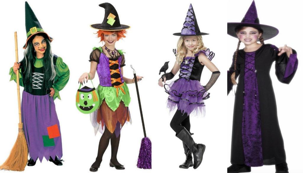 heksekostume til børn hekseudklædning piger heks kostume heks halloween kostume heks udklædning fastelavn lilla haks heks rapunzel kostume