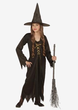 sort heksekostume til børn 319x450 - Hekse kostume til børn