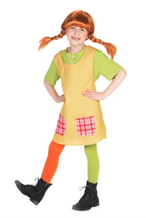 Pippi børnekostume 301x450 - Pippi langstrømpe kostume til børn