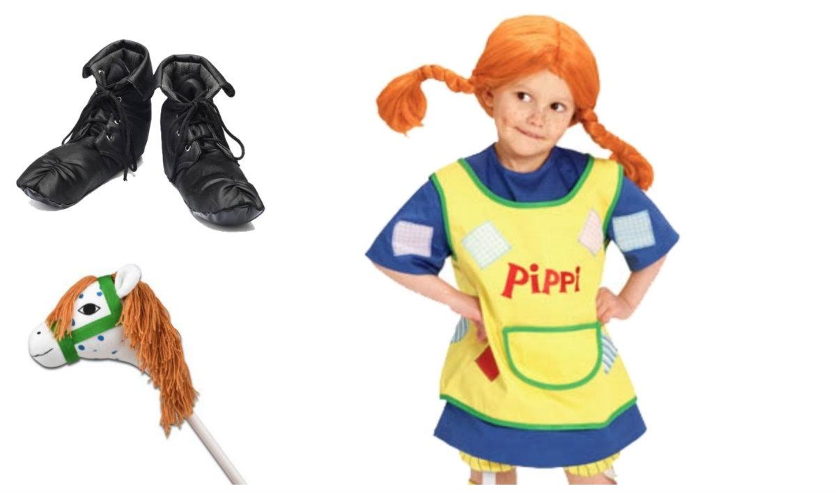 Extreme Pippi langstrømpe kostume til børn - KostumeUniverset ZG69