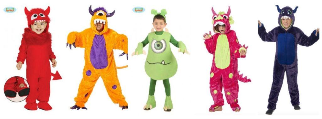 collage 39 1024x379 - Monster kostume til børn og baby