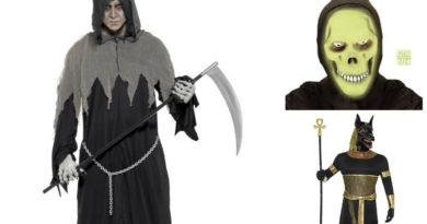døden kostume til voksne, døden udklædning til voksne, manden med leen kostume til voksne, halloween voksenkostumer, uhyggelige halloween kostumer til voksne, uhyggelige kostumer til voksne, hvad er halloween, kostume universet