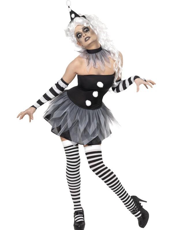 farlig klovn kostume ond klovnepige zombie klovnekostume klovnekostume kvinderbilligt halloween kostume