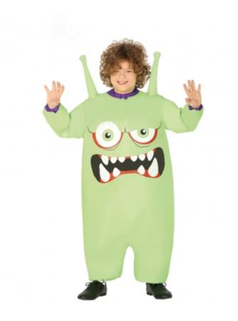 grønt monster kostume til børn