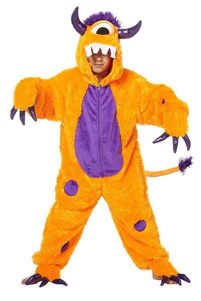monster kostume til børn monsterkostume til børn monster kostume til halloween halloween kostume til børn udklægning til halloween monsster orange monster kostume