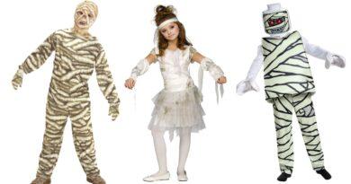 mumie kostume til børn halloween børnekostume mumie 390x205 - Mumie kostume til børn