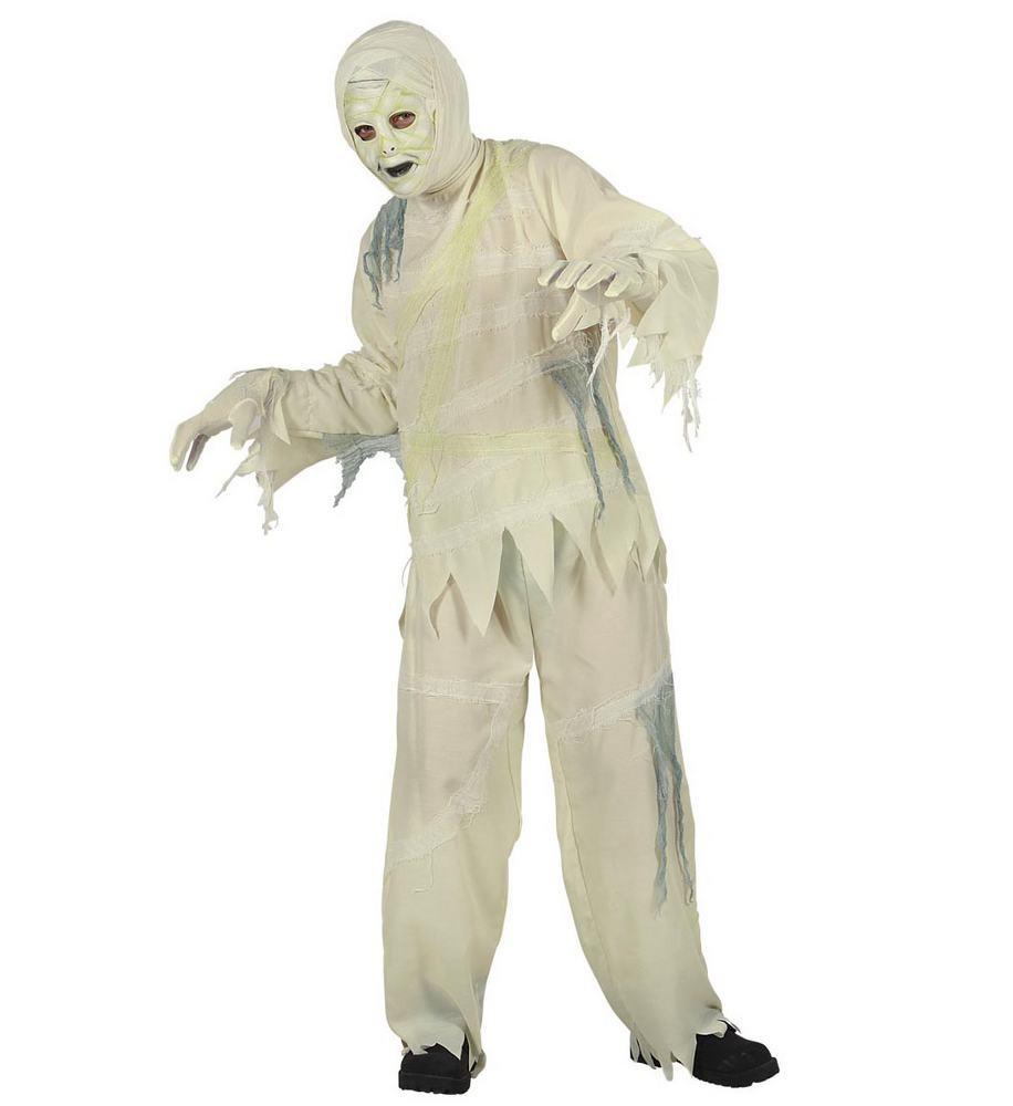 mumie kostume til børn mumiekostume til børn halloween udklædning mumie mumieforklædning