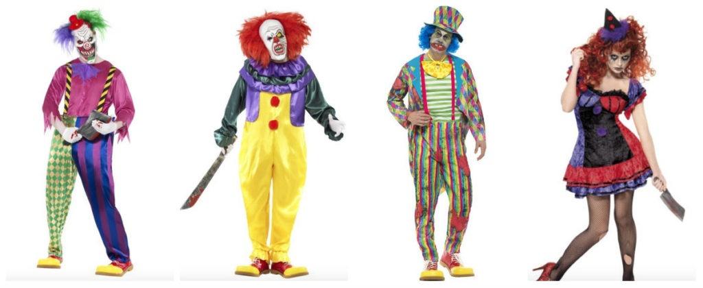 uhyggeligt klovnekostume til voksne gyserklovn dræberklovn kostume halloween kostume til voksne