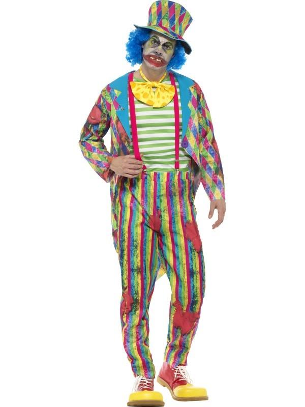 uhyggeligt klovnekostume til voksne gyserklovn dræberklovn kostume