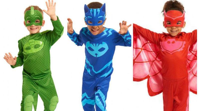 PJ Masks Pyjamasheltene kostume til børn PJ Masks Pyjamasheltene udklædning PJ Masks Pyjamasheltene fastelavnskostume PJ Masks Pyjamasheltene kostume heldragt maske