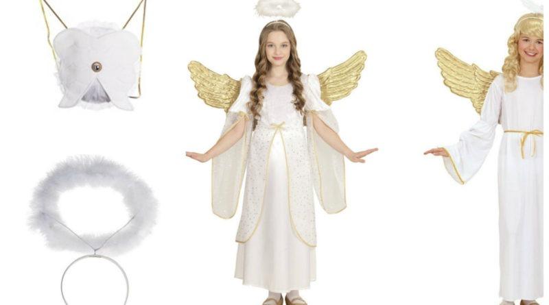 engel kostume til børn englekostume engleudklædning engel udklædning englekjole fastelavnskostume tøj til julefest samlet englesæt engelkostume tilbud engleudklædning