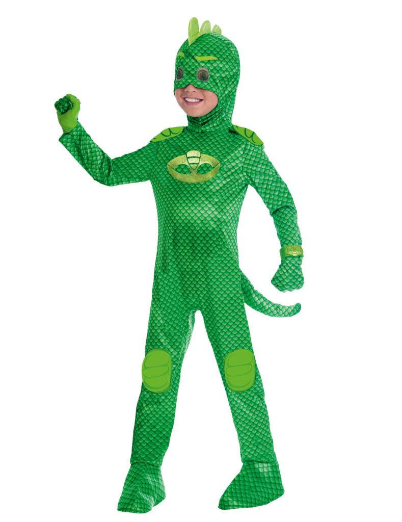 geggo PJ Masks pyjamasheltene gekko kostume til børn grøn pyjamashelt kostume til børn