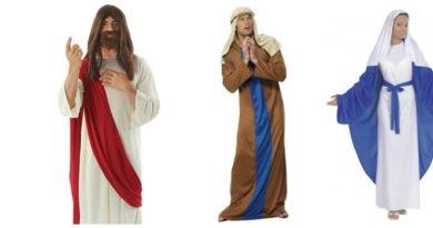 jomfru maria kostume til voksne jesus kostume til voksne josef kostume til voksne 390x205 - Jomfru Maria, Josef og Jesus kostume til voksne