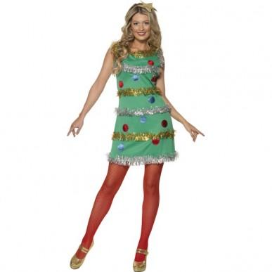juletræ kostume til voksne juletræ kostume til kvinder juletræ udklædning julefrokost kostume udklædning