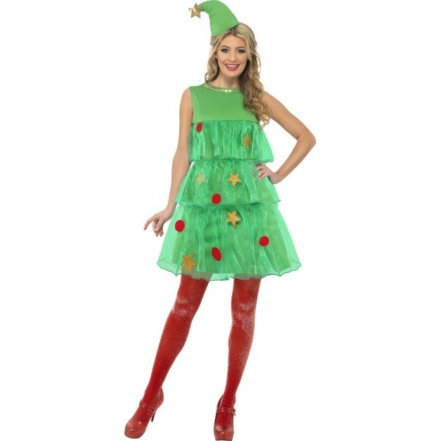 juletræ kostume til voksne juletræ kostume til kvinder juletræ udklædning julefrokost kostume