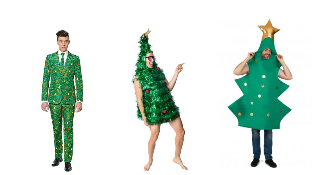 juletræ kostume til voksne sjovt julekostume til voksne juletræ udklædning juletræspynt