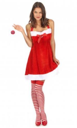 nisse kostume til kvinder nissepige julenattøj nissemor kostume