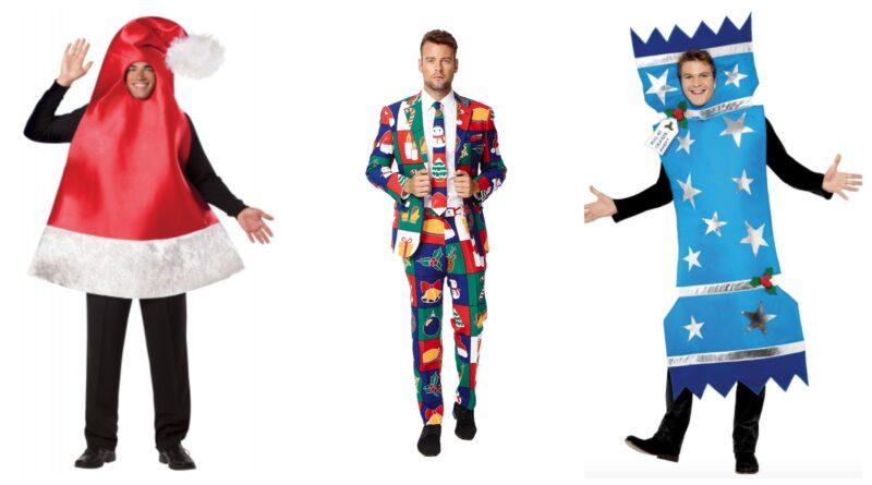 sjove julekostumer til voksne, juletøj til julefrokost, julefrokost kostume, julefest kostume, røde kostumer, jule voksenkostumer, julekostumer tilbud