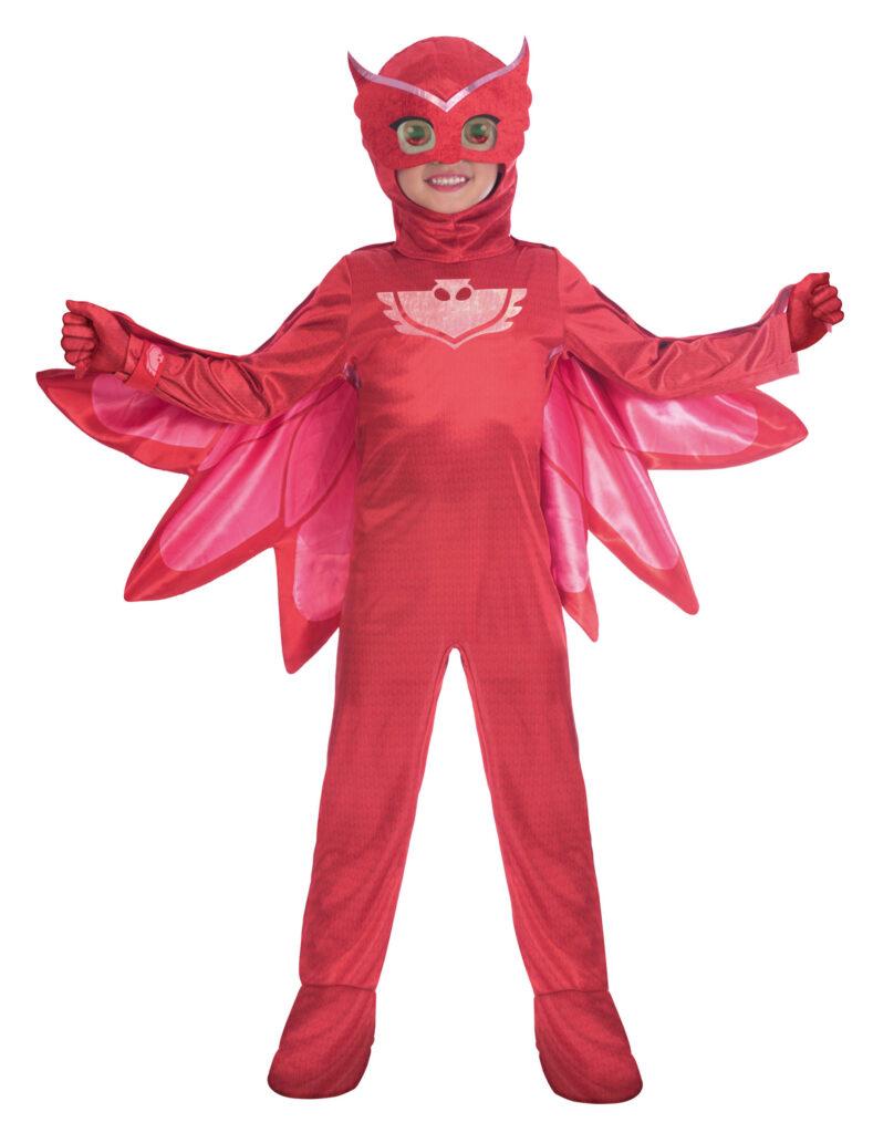 ugline pyjamasheltene kostume PJ Masks ukline ugle rød kostume fastelavnskostume PJ masks børnekostume ugle kostume