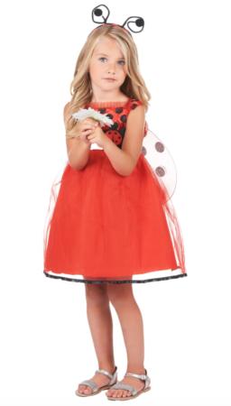 mariehøne kjole til børn 256x450 - Mariehøne kostume til børn