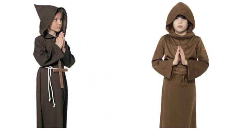 munke kostume til børn lille munk udklædning billigt fastlavnskostume religiøst kostume til børn munkekostume til børn børnekostume munk munk udklædning hellig munk
