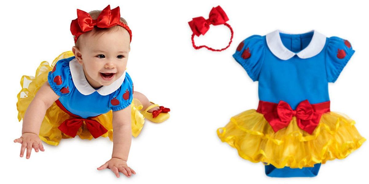 snehvide kostume baby fastelavnskostume baby fastelavn udklædning baby 1 år - KostumeUniverset