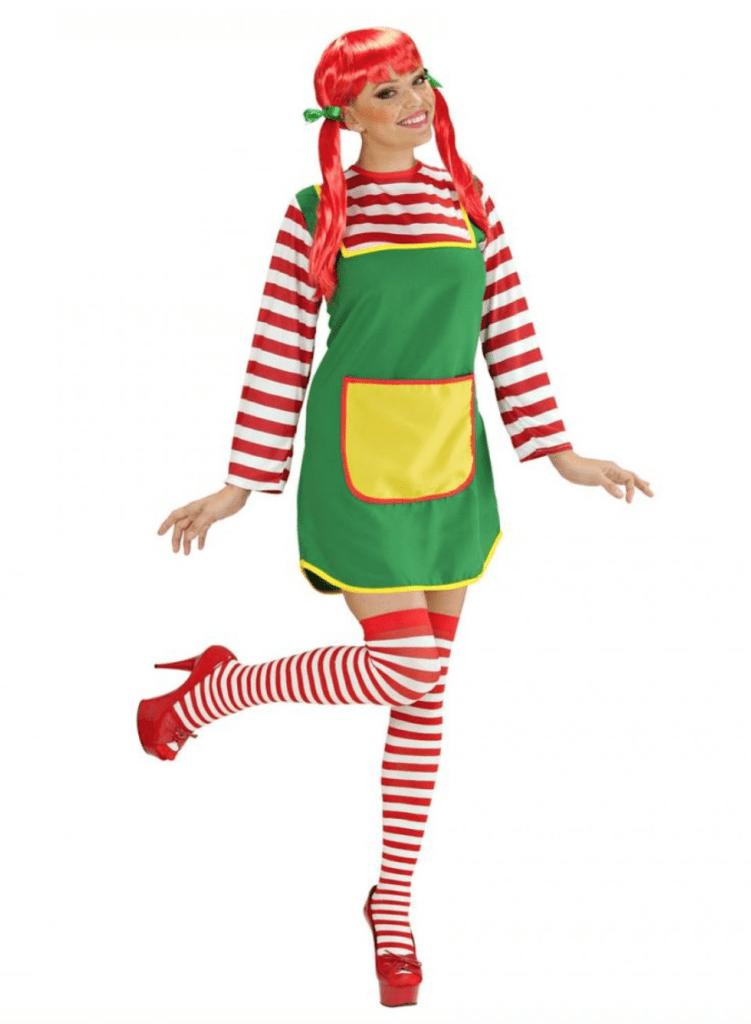 Berømte Pippi langstrømpe kostume til voksne - KostumeUniverset TC81