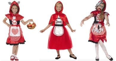 collage 11 390x205 - Rødhætte kostume til børn