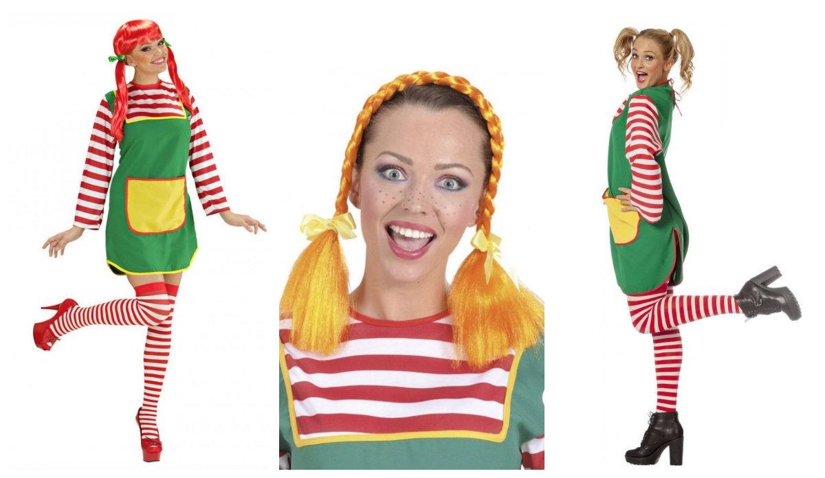 Populære Pippi langstrømpe kostume til voksne - KostumeUniverset TL13