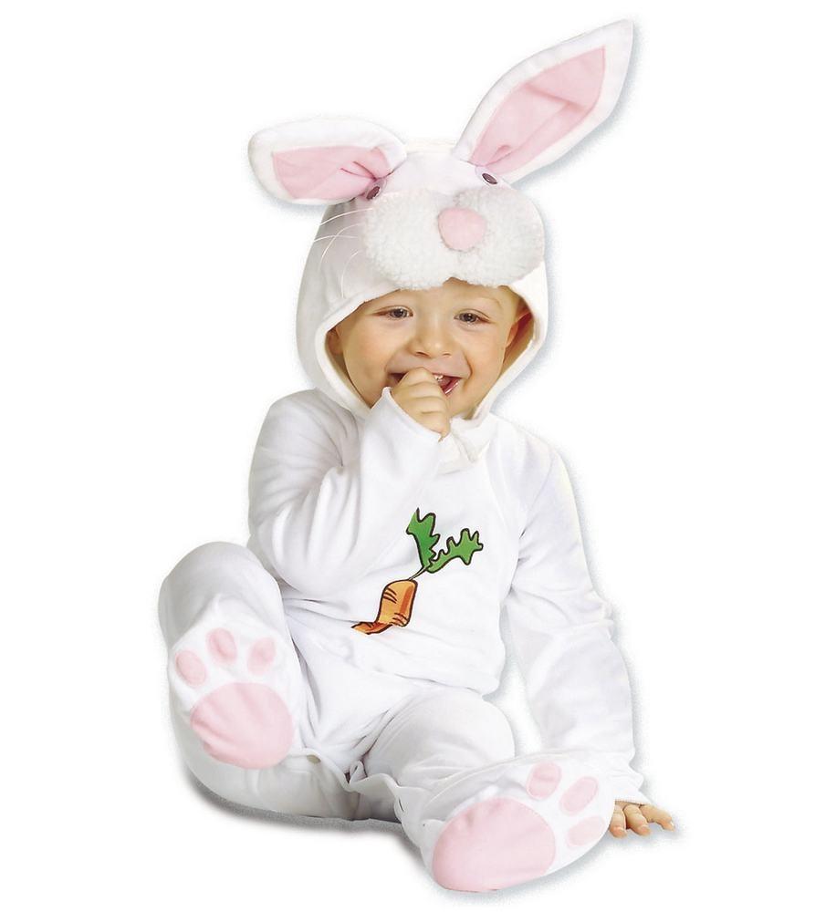 lille hvis kanin kosstume til baby babykostume til fastelavn baby heldragt udklædning