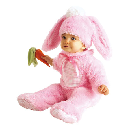 lyserød kanin udklædning til baby