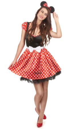 minnie mouse kjole mini mouse kostume til voksne frækt minnie kostume