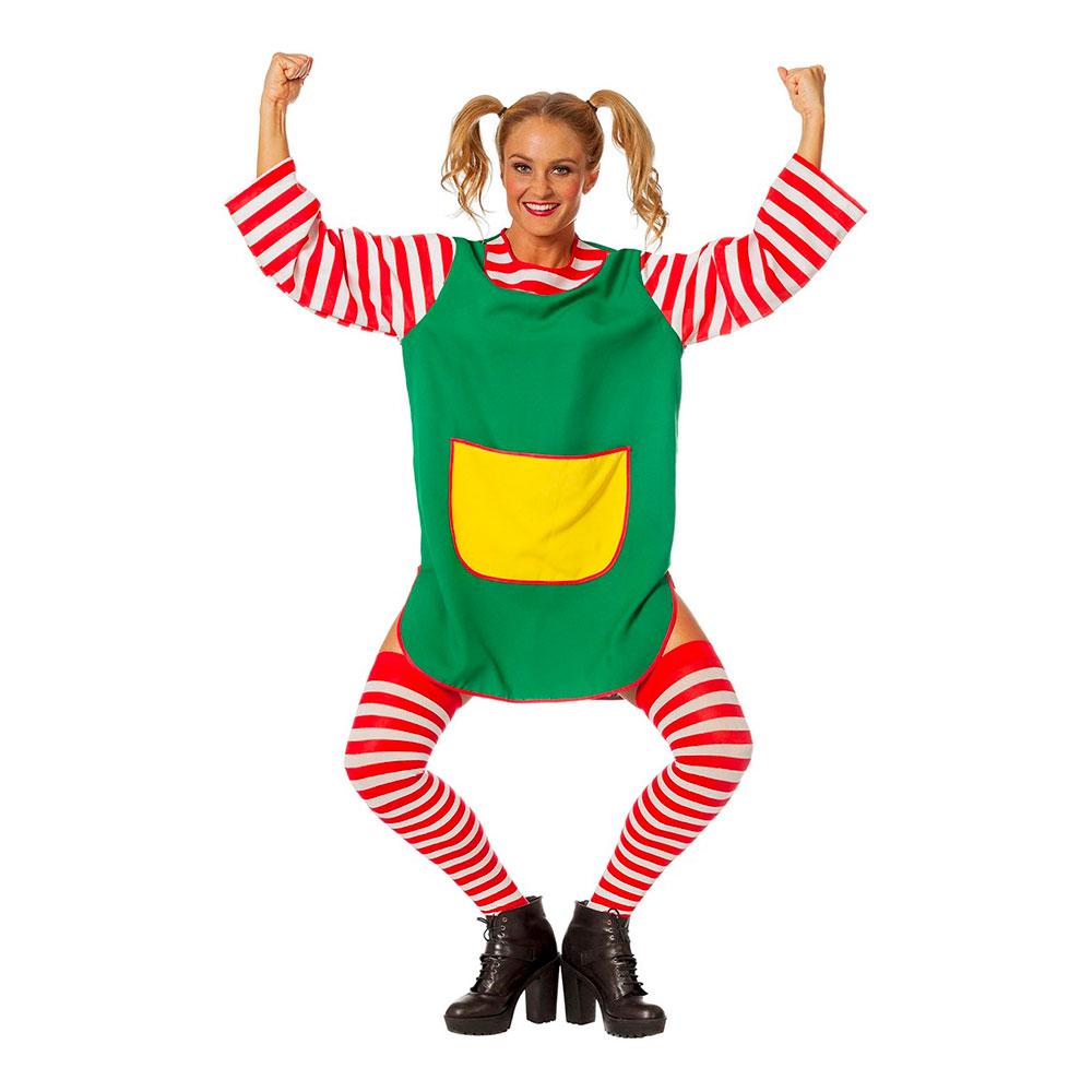 pippi langstrømpe kostume til voksne - Pippi langstrømpe kostume til voksne