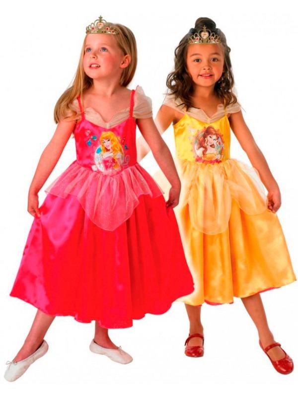 tornerose og bell udkl dning 2 1 - Belle kostume til børn