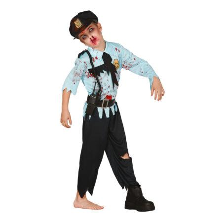 Politi zombie kostume 450x450 - Politimand kostume til børn