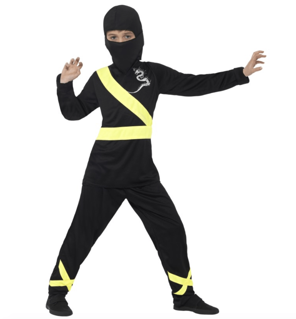 ninja klæd ud tøj
