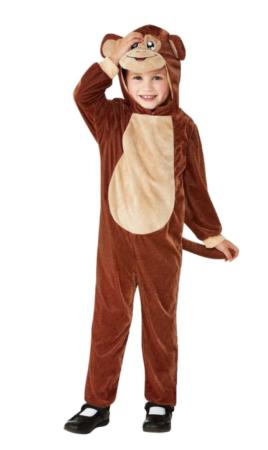 abe børnekostume 268x450 - abe kostume til børn og baby