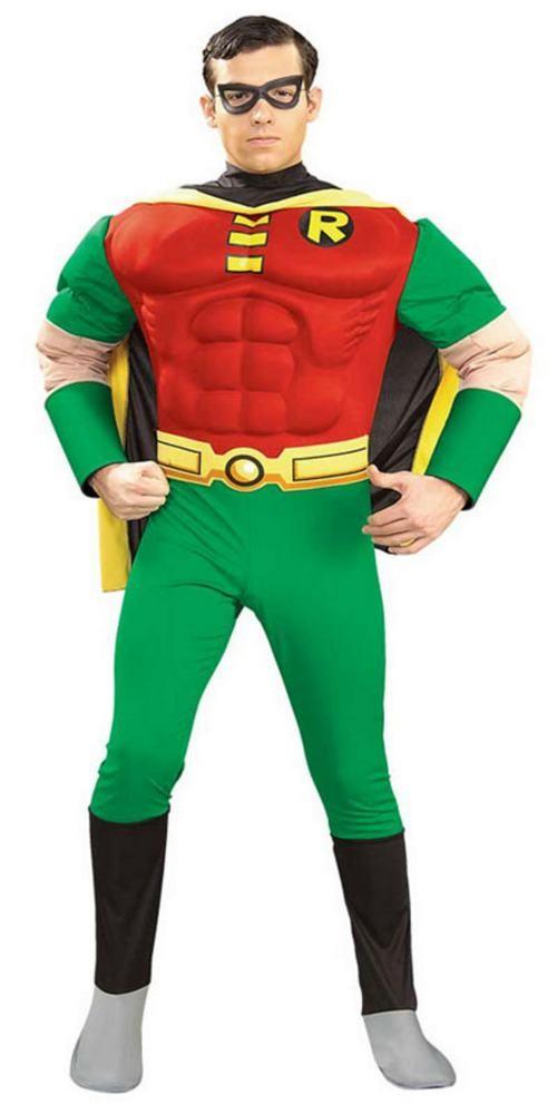 batman kostume til voksne robin udklædning karneval superheltekostume