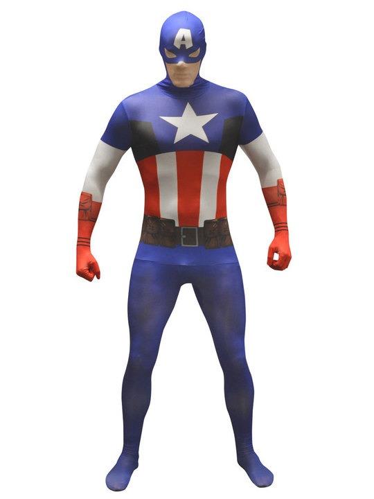 captain amerca kostume til voksne fastelavn kaptajn amerika fastelavnskostume captain amerika kostume gennemsigtigt kostume