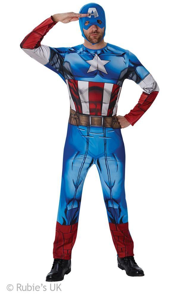 captain amerca kostume til voksne fastelavn kaptajn amerika fastelavnskostume captain amerika kostume udklædning