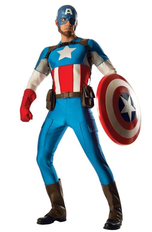 captain america deluxe supreme kostume originalt captain america kostume