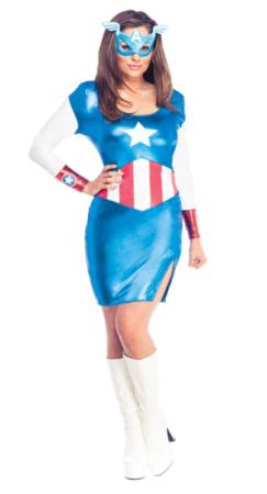 captain america kostume til kvinder