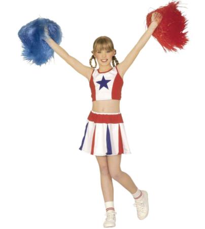 cheerleader kostume til piger luksus kostume til piger