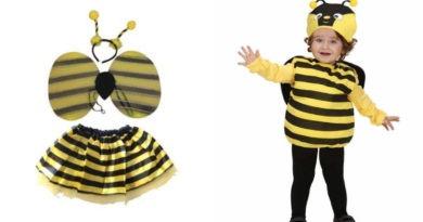 bi kostume til baby, bi udklædning til baby, bi babykostumer, dyrekostumer til børn, dyrekostumer til baby, kostumeuniverset
