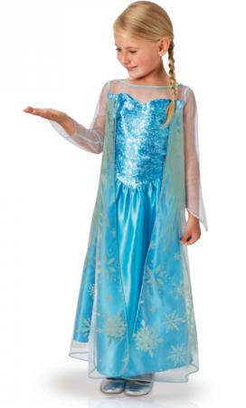 elsa kjole med palietter 272x450 - Elsa kostume til børn