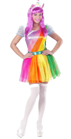 enhjørning kostume til kvinder regnbue enhjørning unicorm regnbue kostume