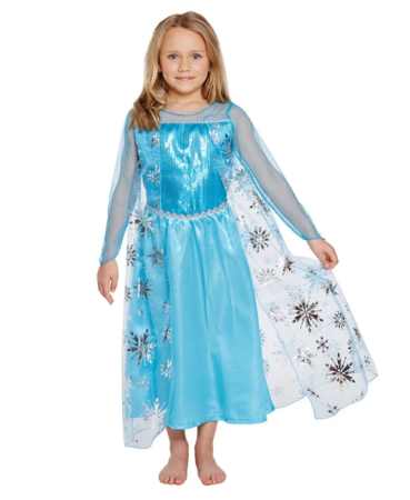 isdronning elsa børnekostume elsa kjole med kappe